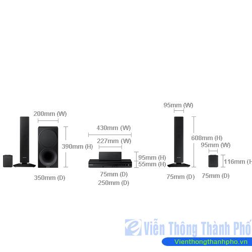 Dàn âm thanh Samsung HT-F453HRK