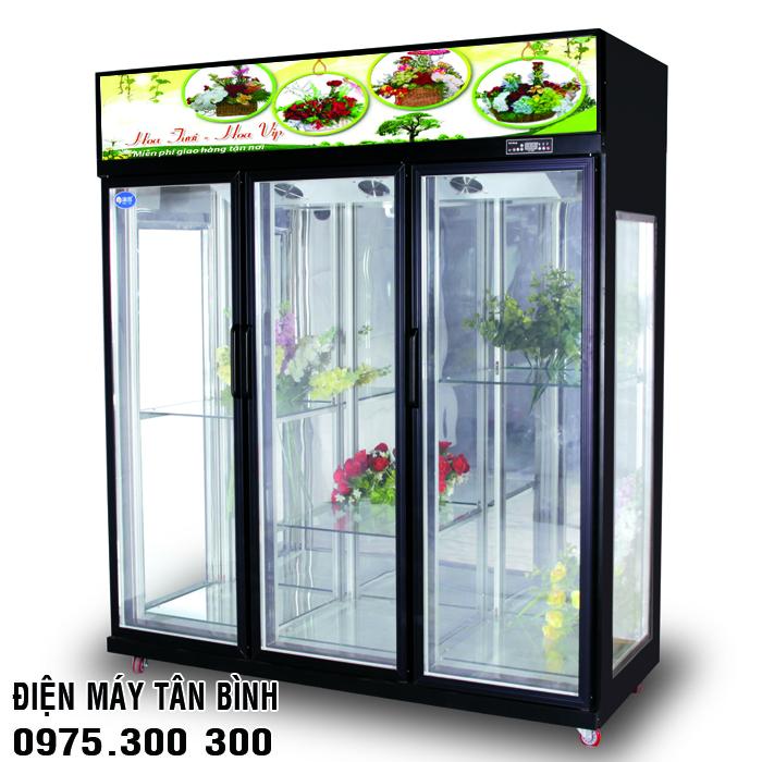 Tủ lạnh kính trưng bày hoa tươi Dako Việt Nhật