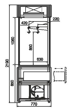kích thước tủ 4 mặt kính trưng bày thị bò dê bê thui