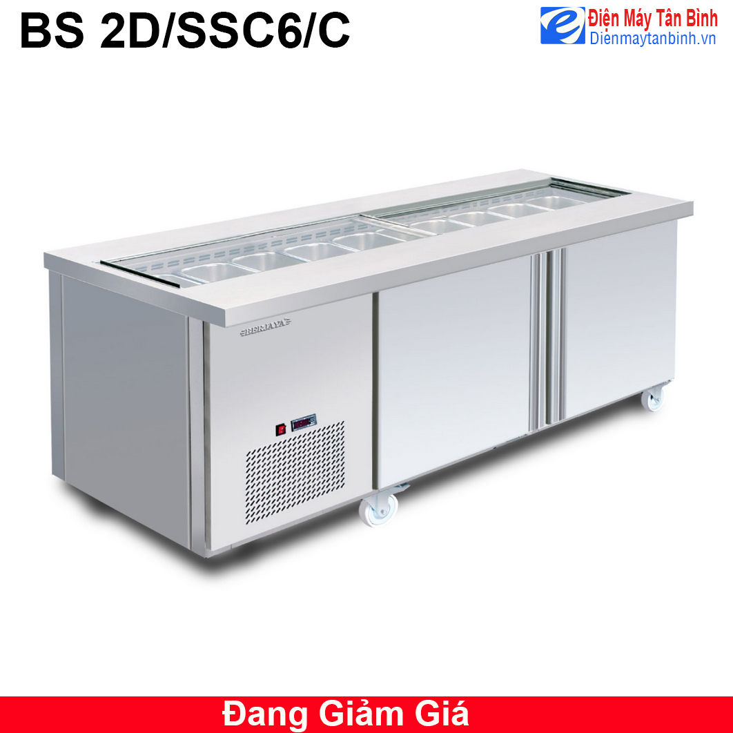 Bàn lạnh chế biến thực phẩm Berjaya BS 2D/SSC6/C