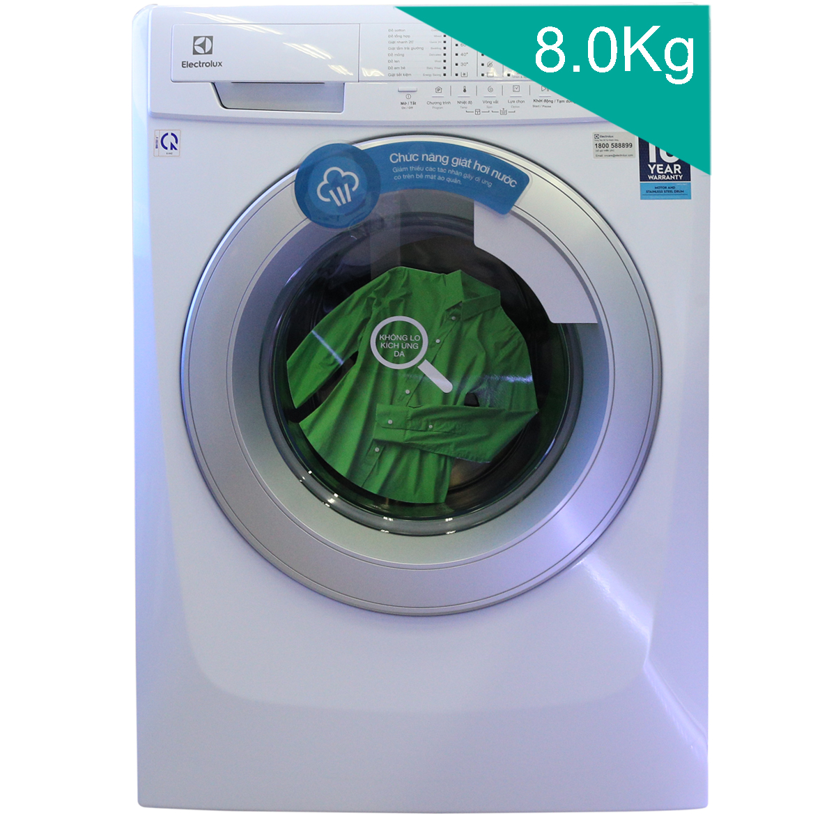 Máy giặt lồng ngang 8kg inverter Electrolux EWF10844