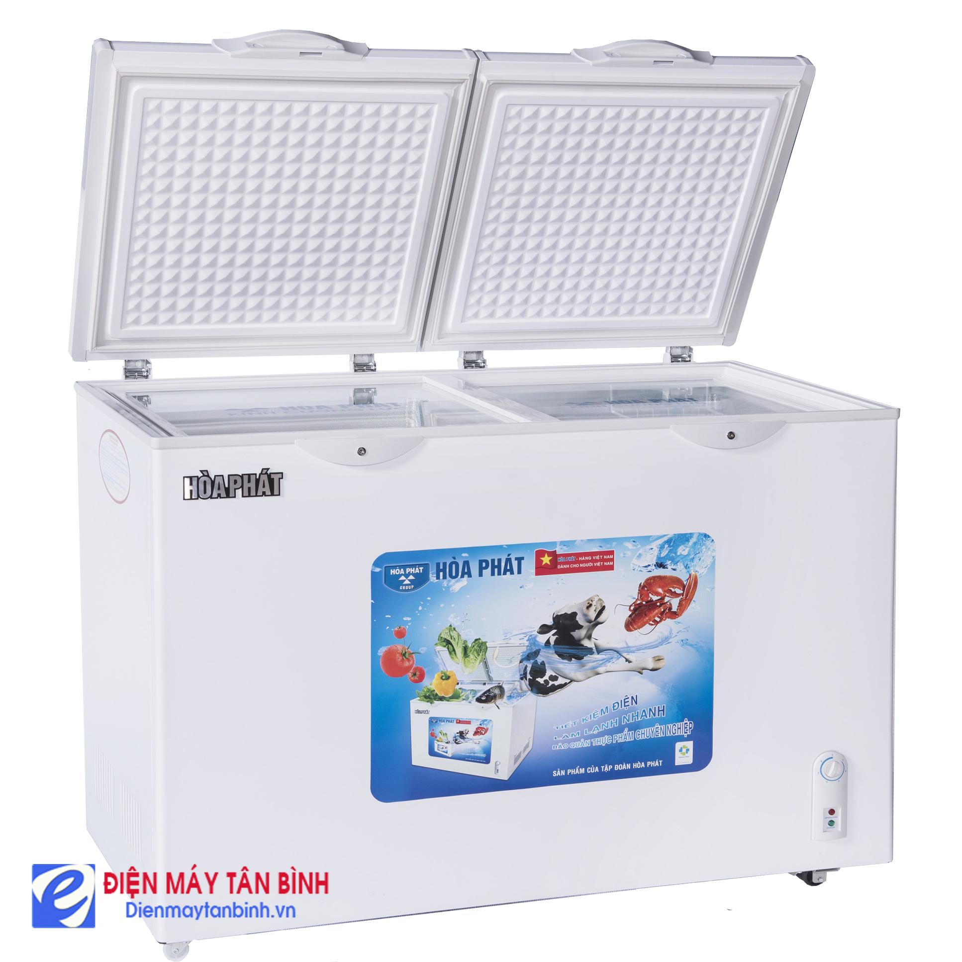 Tủ đông mát 300L Hòa Phát HCF-600S2PĐ (Dàn lạnh ống đồng)