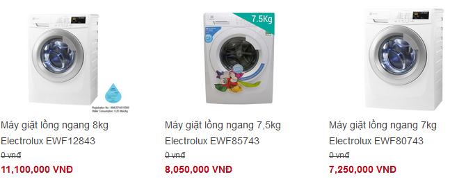 tư vấn mua máy giặt electrolux