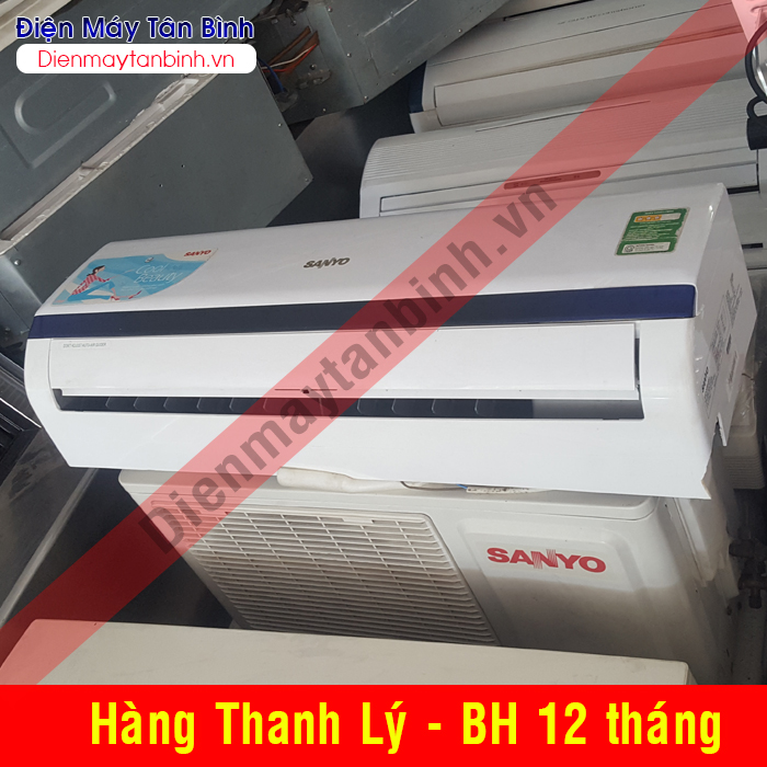 Thanh lý Máy lạnh cũ Sanyo 1hp (mới 90%)