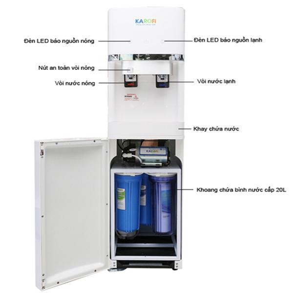 Máy lọc nước nóng lạnh Karofi HC-300-RO