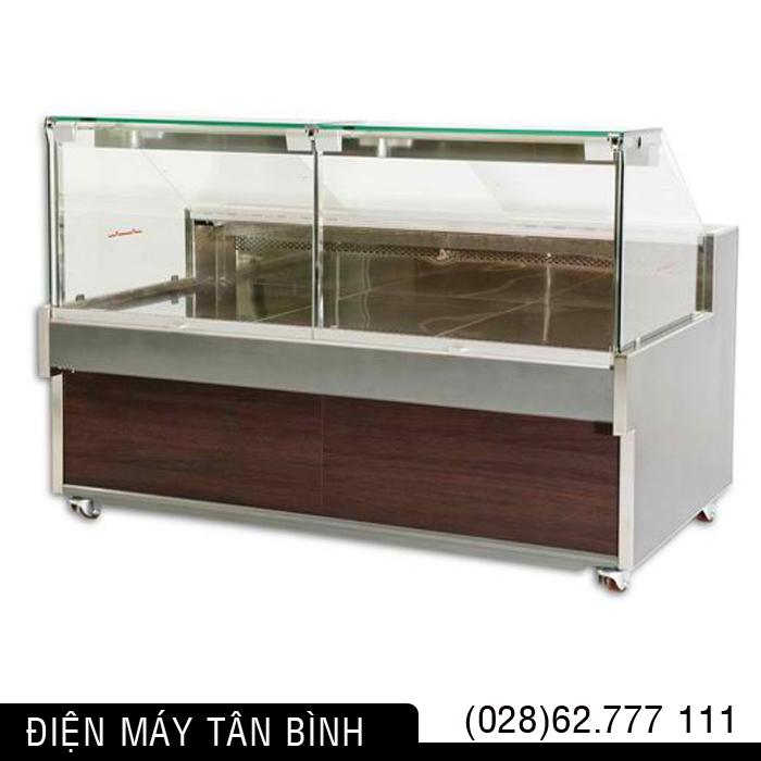 Tủ mát trưng bày Thịt cá hải sản (Kính vuông)