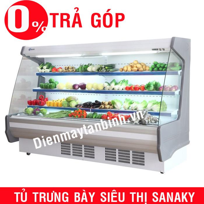 Tủ mát trưng bày siêu thi Sanaky VH-25HP