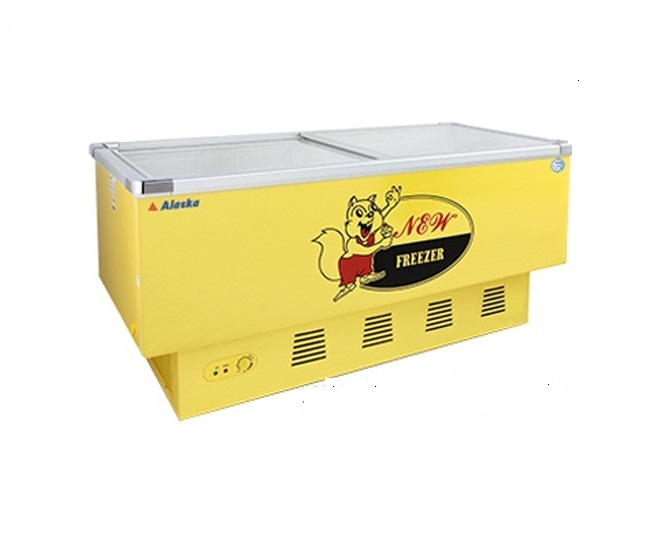 Tủ đông trưng bày siêu thị Alaska SD-6Y (600 lít - màu vàng)