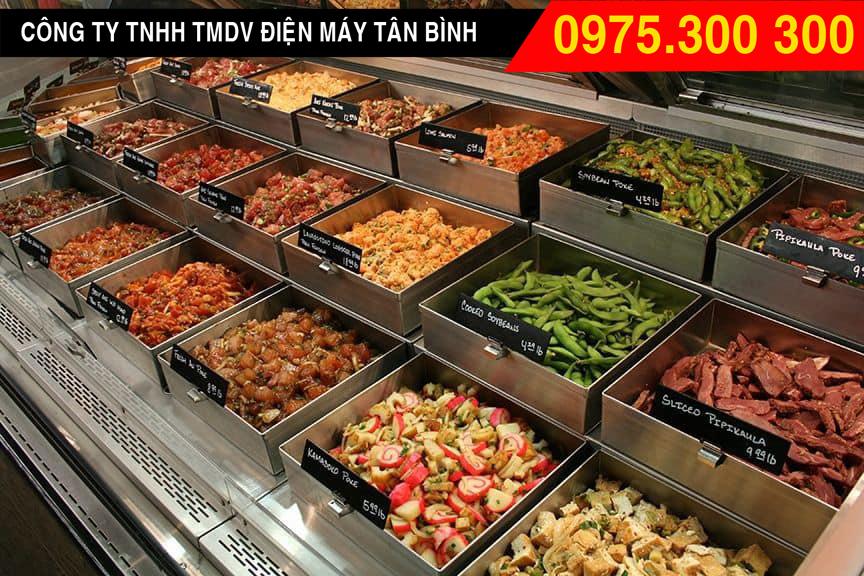 Tủ thức ăn thực phẩm tự chọn