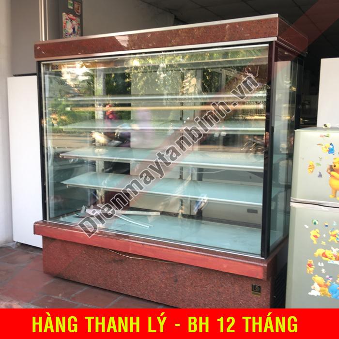 Tủ mát cũ bánh kem 5 tầng Đài Loan (Kính Vuông)