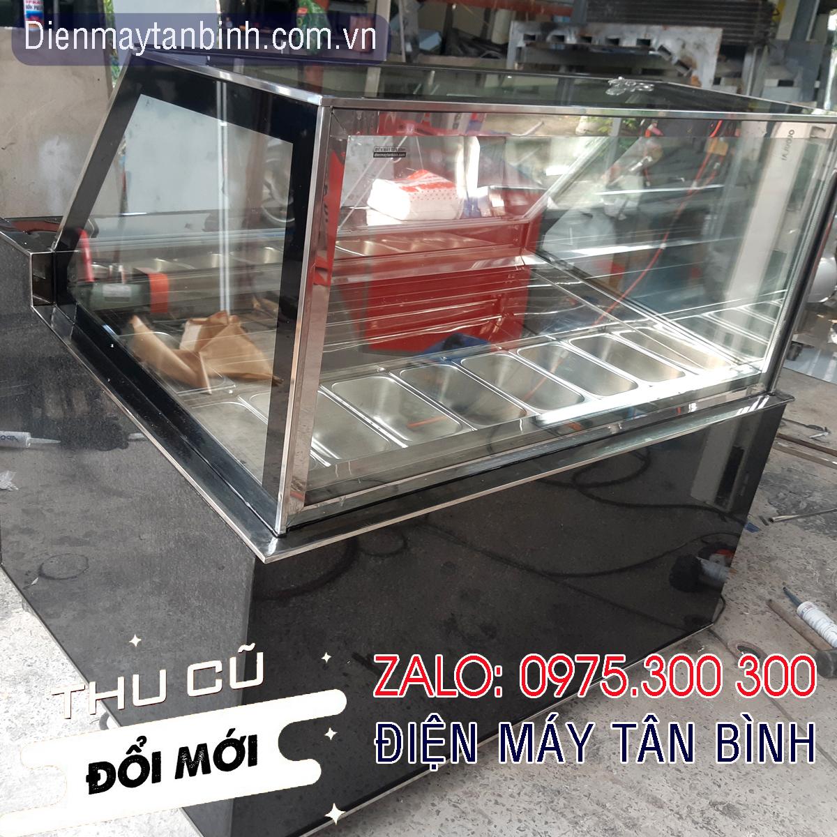 Tủ đông kem ký cũ 12 khay kính vuông Dako Việt Nhật