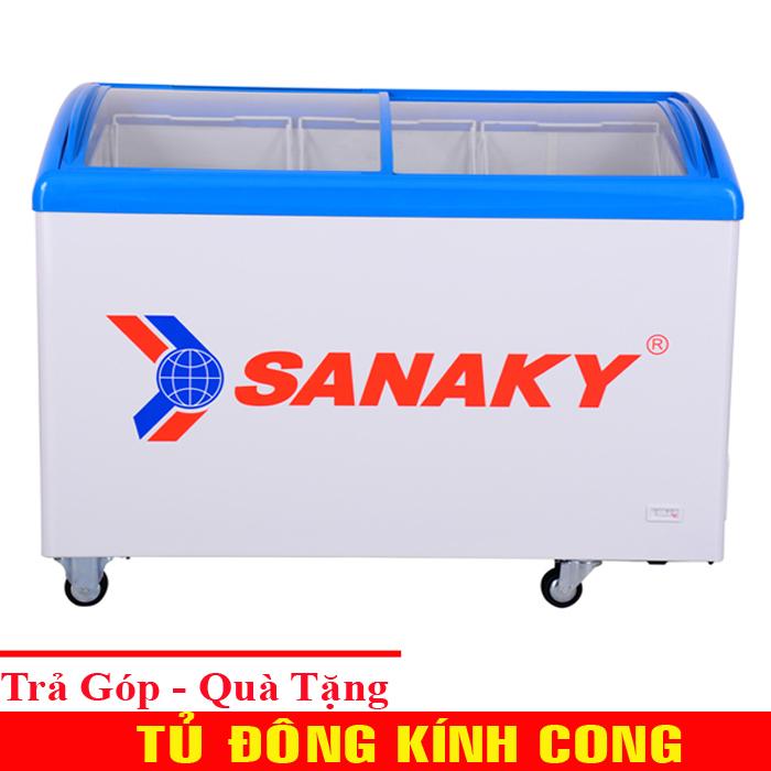 Tủ Đông kem Kính cong Sanaky VH-382K - Kính lùa