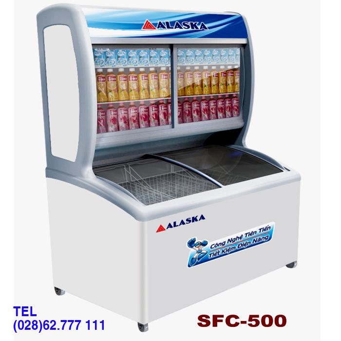 Tủ đông mát trưng bày kem nước ngọt ALASKA SFC-500