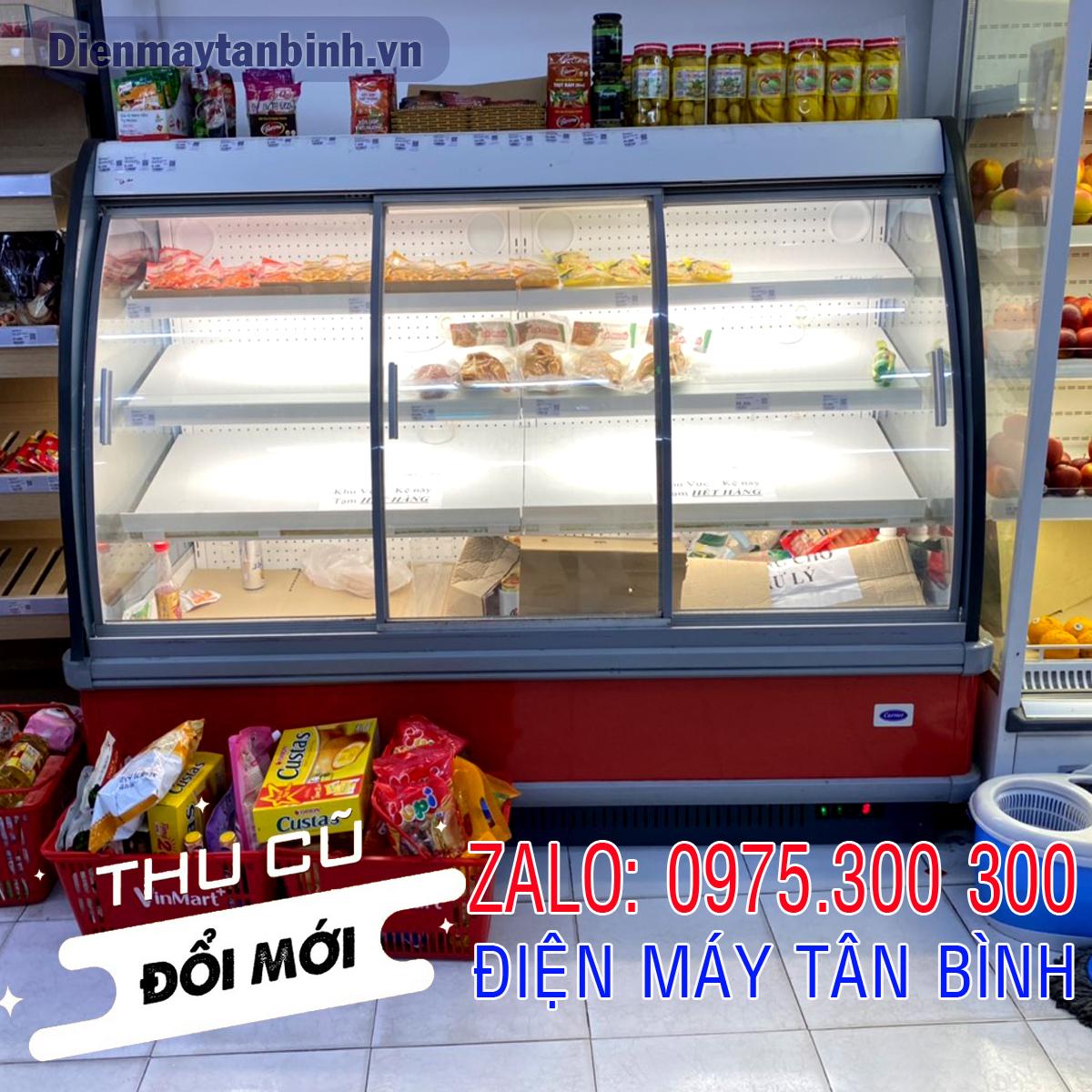 Tủ mát Carrier 4 tầng trưng bày thịt heo Meat Deli