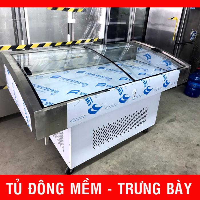 Thanh lý tủ đông mềm trưng bày thịt heo cá hải sản