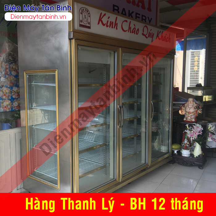 Tủ đông cũ trưng bày thực phẩm 3 cửa 1500 lít