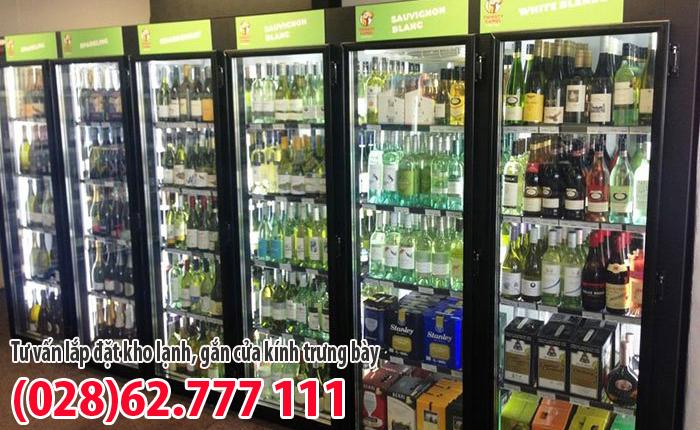 Tủ lạnh trưng bày rượu