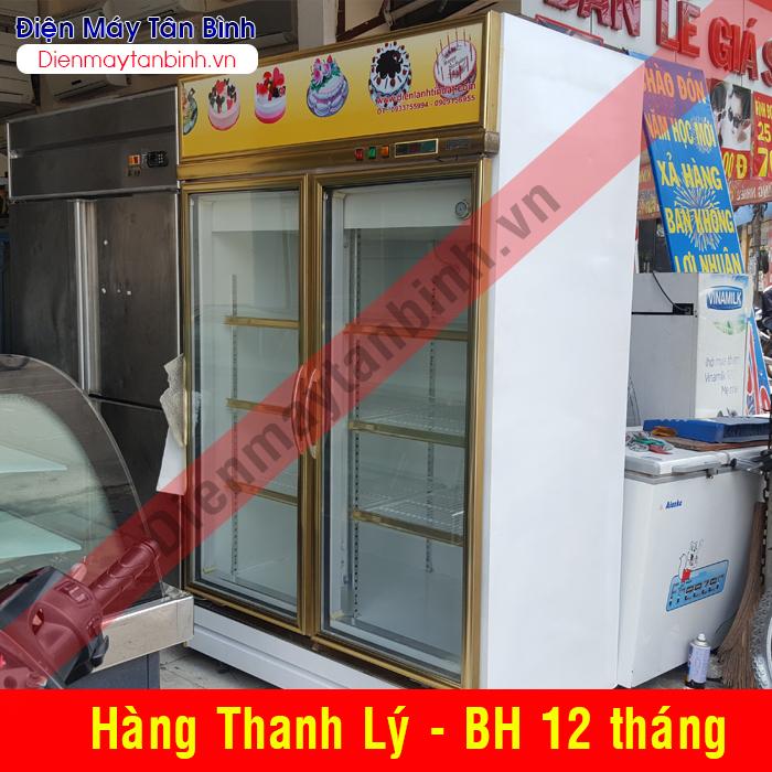 Tủ mát cũ 2 cánh cửa 1000 lít Hương Việt (Đài Loan)