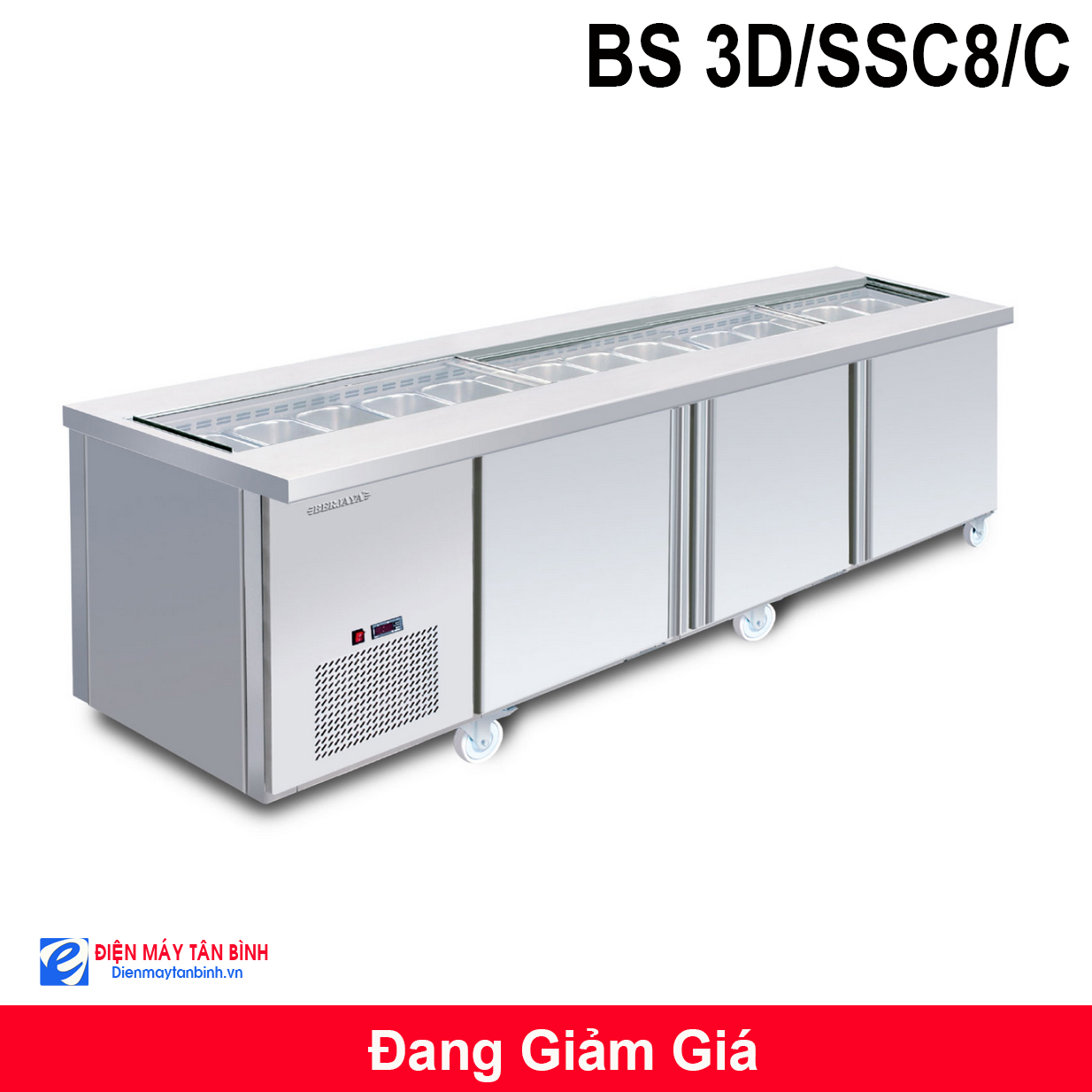 Tủ mát Salad có khay Berjaya BS 3D/SSC8/C