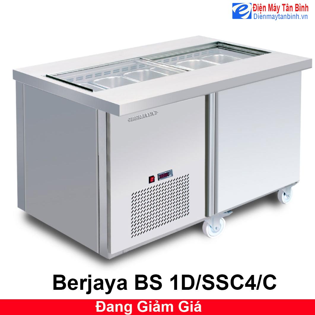 Tủ mát inox bàn thớt có khay Berjaya BS 1D/SSC4/C
