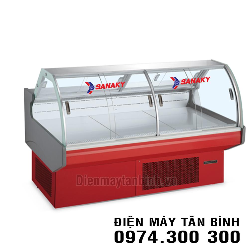 Quầy lạnh kính cong trưng bày siêu thị Sanaky VH-2000T