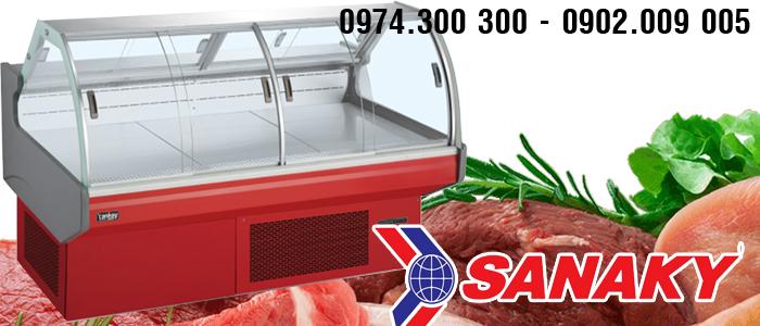 Tủ thịt heo lợn Sanaky