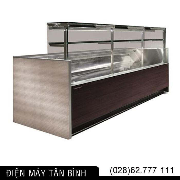 Quầy lạnh trưng bày thực phẩm siêu thị (kính vuông)
